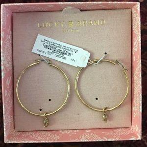 Lucky Brand *NEW* Buddha hoop Earrings